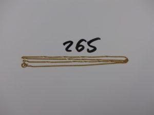 1 chaîne maille gourmette en or (L44cm). PB 4g