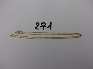 1 chaîne maille forçat en or (L54cm). PB 5,5g