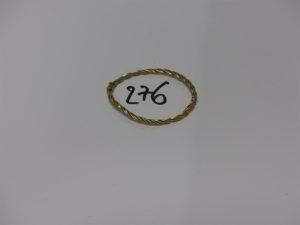 1 bracelet jonc torsadé ouvrant (diamètre 5,5/6,5cm) en or PB 6g