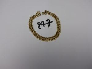 1 bracelet maille festonnée en or (L20cm). PB 10,6g