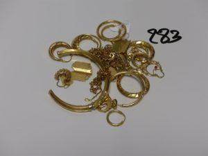 1 Lot casse en or. PB 39,3g