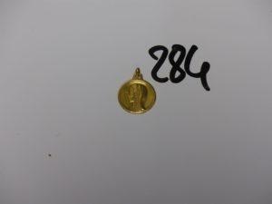 1 médaille de la Vierge en or PB 3g