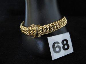 1 Bracelet en or maille americaine (L 19cm). PB 16g