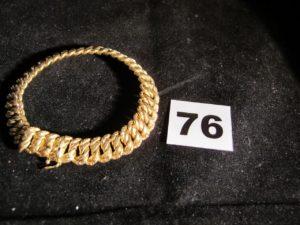 1 Bracelet en or maille americaine (L 19cm). PB 20,6g