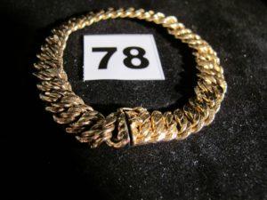 1 Bracelet en or maille americaine (L 18,5cm). PB 18g