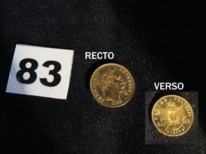 1 Pièce Napoleon III 20fr année 1869 P B 6,4g.