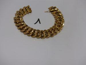 1 bracelet maille américaine en or (1 peu abîmé,L23cm). PB 47,5g