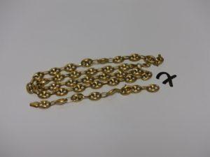 1 collier maille grain de café en or cassé en 2. PB 19g