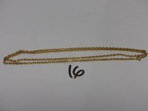 1 chaîne maille forçat en or (L78cm). PB 24,4g