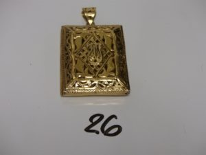 1 pendentif Coran en or PB 23,1g
