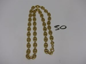 1 collier maille grain de café en or (L54cm). PB 29g