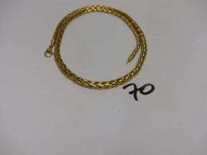1 collier maille palmier en or (L45cm). PB 19,9g