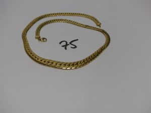 1 collier maille anglaise en or (L44cm). PB 22,5g