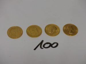 4 souverain en or (ElizabethII/ 2 Edouard VII/ GeorgesV). PB 31,9g
