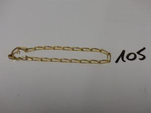 1 bracelet maille alternée en or (L20cm). PB 5,9g