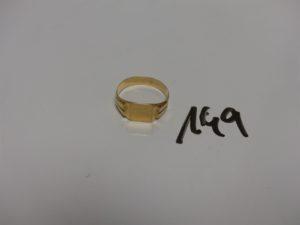 1 chevalière en or (td59). PB 3,2g