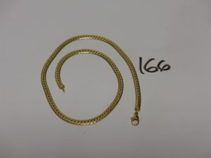 1 collier maille anglaise en or (L41cm). PB 13,2g