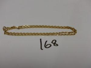 1 chaîne maille forcat en or (L50cm). PB 16,2g