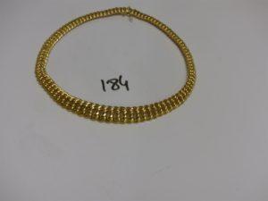 1 collier maille américaine en or (L45cm). PB 40,7g