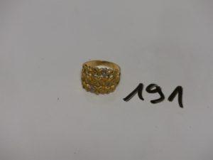 1 bague en or à décor de 3 coeurs (Td54). PB 4,1g
