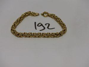 1 bracelet maille royale en or (L20cm). PB 14,3g
