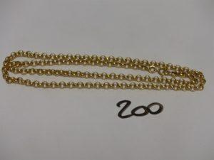 1 chaîne maille jaseron en or (L52cm). PB 10,2g