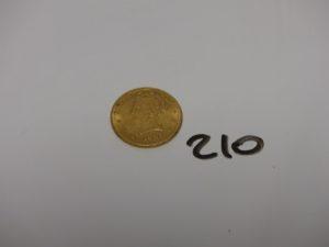 1 pièce de 10 dollars en or Tête de liberté 1881. PB 16,7g