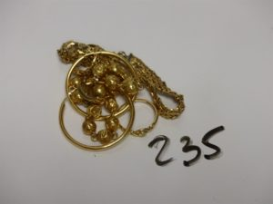 1 lot casse et or et petits diamants. PB 17,5g