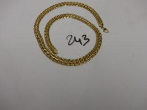 1 collier maille festonnée en or (L46cm). PB 20,1g
