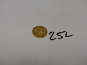 1 pièce de 20Frs en or RF A1850. PB 6,4g