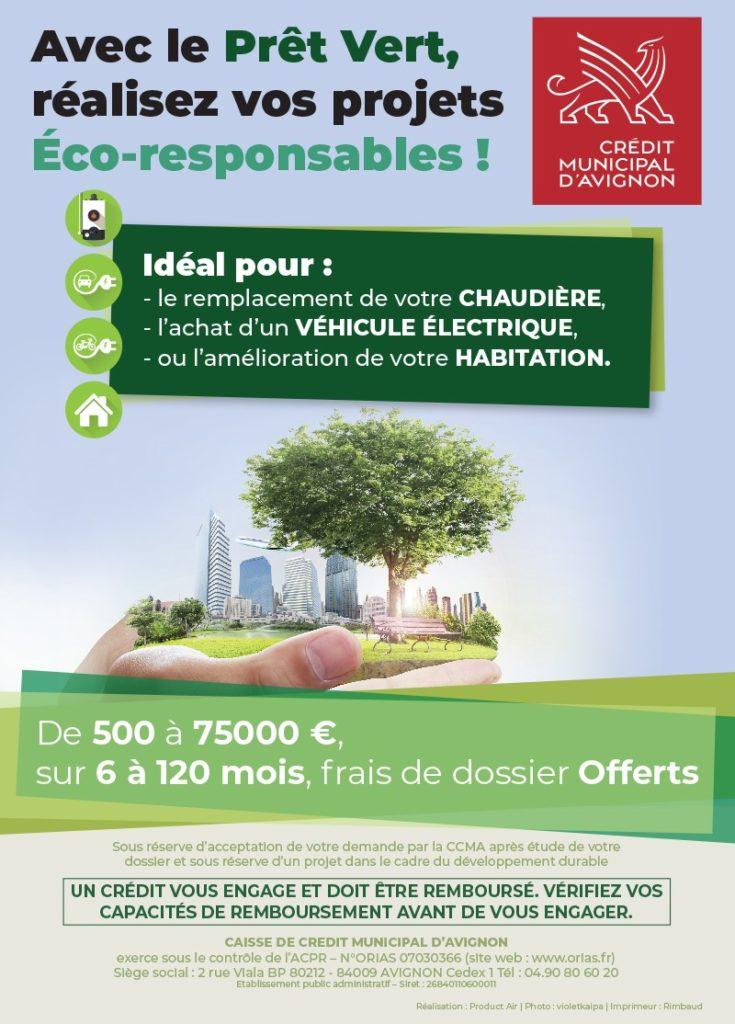 image d'une ville avec des espaces verts pour une publicité du Pret vert pour financer les projets de développement durable