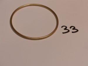 1 bracelet jonc en or (diamètre 6,5cm). PB 20,3g