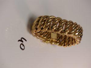 1 bracelet maille américaine en or (L21cm). PB 83,7g