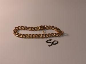 1 bracelet maille gourmette en or (L18cm, réparé). PB 10,5g