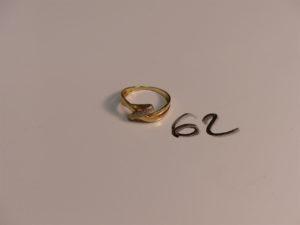 1 bague en or ornée de 4 petits diamants (Td57). PB 2,8g
