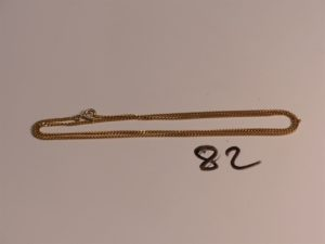 1 chaîne maille gourmette en or (L50cm). PB 6,8g
