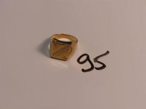 1 chevalière en or (Td60). PB 6,2g
