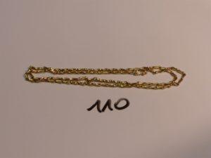 1 chaîne maille épi en or (L53cm). PB 6,2g