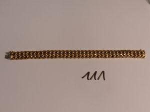 1 bracelet maille américaine en or (L19cm). PB 28,7g