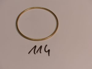 1 bracelet jonc en or (diamètre 6cm). PB 13,6g