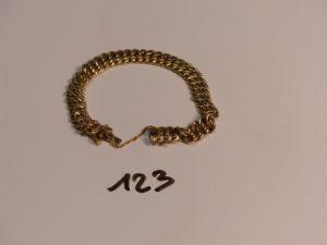 1 bracelet maille américaine en or (usé, L18cm). PB 13,4g
