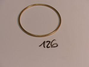 1 bracelet jonc en or (diamètre 6,5cm). PB 18,2g