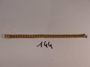 1 bracelet maille américaine en or (L20cm). PB 18,5g