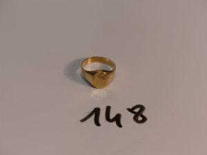 1 chevalière en or (Td55). PB 3g