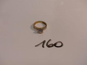 1 bague en or ornée de pierres (Td52). PB 3,3g
