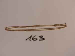1 chaîne maille gourmette en or (L54cm). PB 4,7g