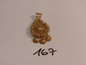 1 pendentif meskia en or (H6cm).PB 17,9g