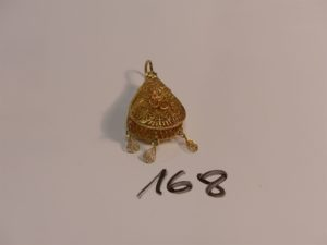1 pendentif meskia en or (H5cm). PB 8,8g