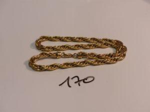 1 collier maille tressée en or (L45cm).PB 24,9g