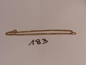 1 chaîne maille gourmette en or (L57cm). PB 6g